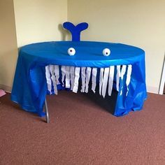 Baby Shark Song - for Dramatic Play Center A whale of an idea! How fun for a reading area or play spot during our ocean theme. Under The Sea Theme, Under The Sea Party, Under The Sea Crafts, Ocean Themes, Beach Themes, Sea Activities, Dramatic Play Centers, Inspiration, Beach Theme Preschool