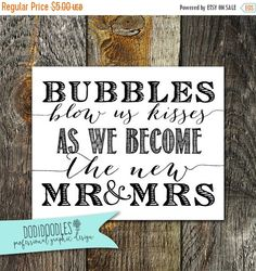 70% CLEARANCE THRU 8/13 Bubble Send Off Wedding by dodidoodles