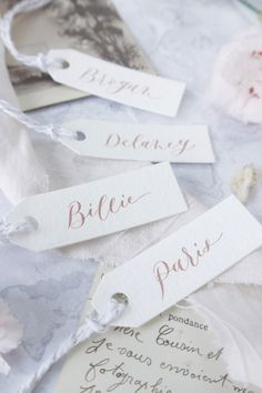 Calligraphy gift tags for wedding favours and pretty place setting Personalised Favours, Personalized Wedding Favors, Personalized Gift Tags, Wedding Favor Tags, Guys 21st Birthday, Gift Sets, Party Guests, Place Setting, Modern Calligraphy