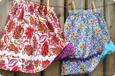 Simple Reversible Skirt tutorial from Dragonfly Designs.  Can't wait to try it!