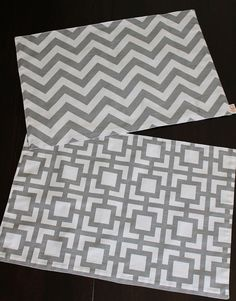 Gray Tile & Chevron Placemat by epbzr on Etsy