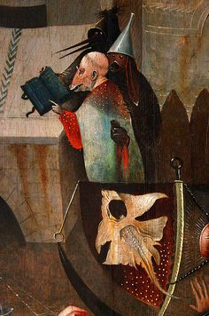 Hieronymus Bosch, Temptations of Saint Anthony, detail