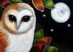 BARN OWL FULL MOON