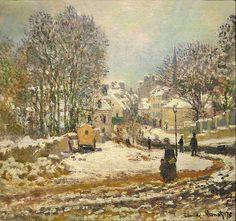 Claude Monet. The Main Street Entering to Argenteuil, Winter, 1885