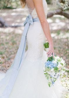 Something blue wedding dress belt Mistakes To Avoid When Accessorizing Wedding Dresses Gourmet Wedding Gifts Personalized Wedding Guest Favors And Customized Bride and Groom Gifts Blue Wedding Dresses, Wedding Colors, Wedding Styles, Blue Dresses, Wedding Gowns, Wedding Photos, Blue Weddings, Wedding Dress Sash, Wedding Gallery