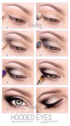 Makeup simple brown eye