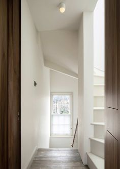 West Architecture, Ben Blossom · House of Layers Fold Down Beds, Stair Shelves, Stone Stairs, Stair Detail, Steel Beams, Architrave, Architectural Section, Guest Suite, Contemporary Architecture