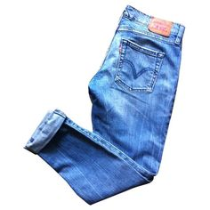 LEVI'S ($61) ❤ liked on Polyvore featuring jeans, pants, bottoms, pantalones, levi jeans, blue jeans, boyfriend fit jeans, skinny jeans and skinny boyfriend jeans