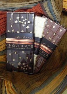 Deep dark rich intense...sublime - Isle of Skye Chocolate.