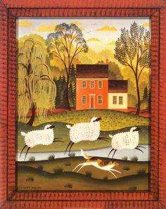 """My Sheep"" Folk art                                                                                                                                                                                 More"