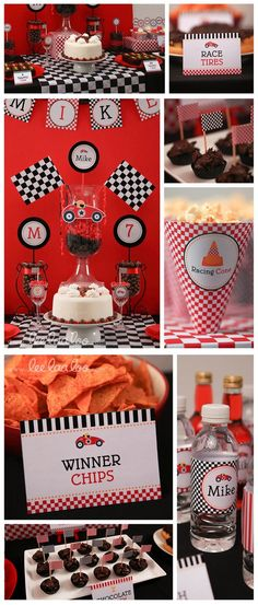 Red Racing Car Birthday Party