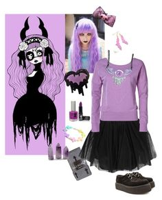 """""""Pastel Goth"""" by monroe285 ❤ liked on Polyvore featuring Full Tilt, Boohoo, ONLY, TheBalm, N.Y.L.A., women's clothing, women's fashion, women, female and woman"""