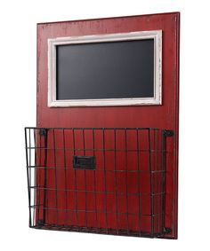 Red Blackboard & Letter Holder Basket | zulily