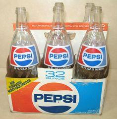 We drank soda from glass bottles