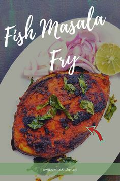 Masala fried fish or fish masala fry is a delicious fish fry recipe in which fish is coated with tangy spicy masala and shallow fried in little oil. This is the best fish fry with masala and tastes delicious. Try this crispy pan fried masala fish fry and Lunch Recipes, Breakfast Recipes, Dinner Recipes, Lasagna Recipes, Ham Recipes, Spicy Recipes, Potato Recipes, Salad Recipes, Chicken Recipes