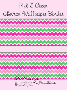 Pink and Mint Green Chevron wallpaper border wall decals for baby girl nursery or children's bedroom decor Childrens Bedroom Decor, Baby Nursery Decor, Girl Nursery, Girl Room, Pink Chevron Wallpaper, Cool Wallpaper, Nursery Wallpaper, Green Chevron, Pink And Green