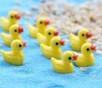 10 stks/set Mini Gele eend Tuin PVC Actiefiguren Kinderen Speelgoed Voor Jongens Meisjes geschenken woonaccessoires