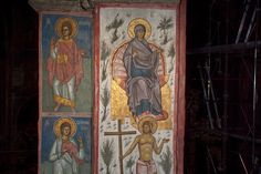 BLAGO | BLAGO : Decani : 217,283,284 StTheopemptus, StAgathonicus and Paradise: St. Mary on the Throne and the Good Thief