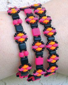 Sizzling Stitched Stacker Bracelets   AllFreeJewelryMaking.com