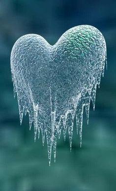 Frosty heart....looks like Angels wings too.