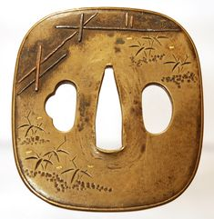 Mid Edo kinko tsuba, most likely a unsigned work from the studio of Nara Tsuneshige, born in to the Sekiguchi family and later adopted by Kawamura family. He was a student of Nara Shigetsugu and was active around 1750.
