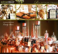 Reception, Wedding, Favors, Candy, Bar, Buffet, Food