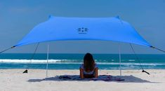 Neso Tents Beach Tent with Sand Anchor, Portable Canopy Sun Shelter, 7 x - Patented Reinforced Corners - Periwinkle Blue Portable Canopy, Camping Canopy, Backyard Canopy, Garden Canopy, Diy Canopy, Canopy Outdoor, Canopy Tent, Ikea Canopy, Facades
