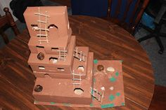 Native American unit study with great activities like this cardboard box Pueblo - from my learning boys blogspot