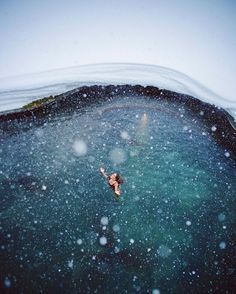 Swimming in the middle of a snow storm | Gal Meets Glam in Iceland