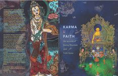 Karma & Faith, the Artwork of Karma Phuntsok and Faith Stone, a collection of paintings and woodblocks, Contemporary Buddhist Art, BuddhaArt Chicano Love, Thangka Painting, Tibetan Art, Painting Workshop, Buddhist Art, Sacred Art, Wall Collage, American Art, Art Forms
