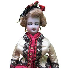 """LAYAWAY 21"""" Antique Bru Smiler French Fashion Doll ALL ORIGINAL from threesistersantiques on Ruby Lane"""