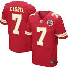 Men's Nike Kansas City Chiefs 7 Matt Cassel Elite Team Color Jersey