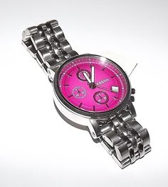 NEW FOSSIL WOMEN'S BOYFRIEND STAINLESS STEEL CHRONOGRAPH PINK DIAL WATCH ES3572 #Fossil #Fashion