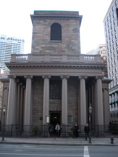 King's Chapel and Burying Ground. Boston . Built by my grandfather.