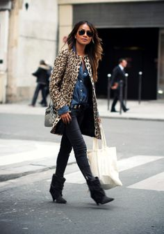 Sincerely Jules - Leopard Coat + Booties http://sincerelyjules.com/2014/04/frenchie.html