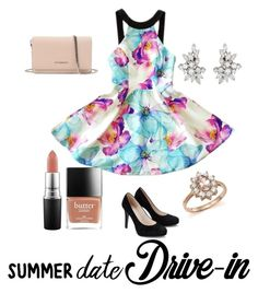 """Untitled #144"" by madisonhuey ❤ liked on Polyvore featuring MAC Cosmetics, Bloomingdale's, Givenchy, DateNight, drivein and summerdate"
