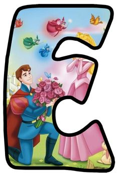Buchstabe - Letter E Cute Alphabet, Disney Princess Party, Cartoon Characters, Fictional Characters, Maleficent, Letters And Numbers, Childcare, Hobbit, Aurora