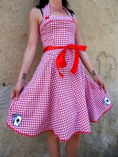 Rockabilly dress cherrie sailor anchor by FifisAlternative on Etsy