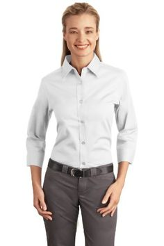 Port Authority Womens 34 Sleeve Easy Care Shirt XXL White ** To view further for this item, visit the image link.