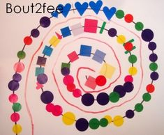 Placing shapes on a line Kindergarten Art, Preschool Art, Rainy Day Activities, Art Activities, Art For Kids, Crafts For Kids, Arts And Crafts, Lessons For Kids, Art Lessons