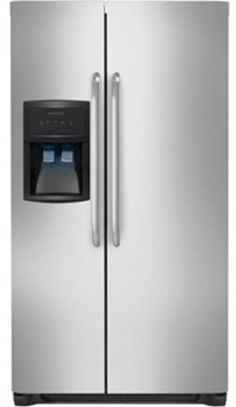 """Frigidaire FFHS2622MS 36"""" 26 cu. ft. Side-by-Side Refrigerator in Stainless Steel by Frigidaire via https://www.bittopper.com/item/frigidaire-ffhs2622ms-36-26-cu-ft-side-by-side/"""