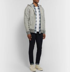 Club Monaco Williams Cotton-jersey T-shirt In White White Cotton T Shirts, Club Monaco, Blue Jeans, Military Jacket, Mens Fashion, Coat, Jackets, How To Wear, Clothes