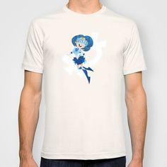Sailor Mercury T-Shirts -- $22 #sailormoon #sailor #moon #sailormercury #mercury #scouts #sailorscouts #bubbles #water #cartoon #art #cute