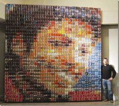 Michael Jackson made from soda cans