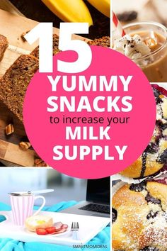 Here are some yummy snacks and lactation recipes to help you get more breast mil. Here are some yummy snacks and lactation recipes to help you get more breast milk and improve your milk supply Lactation Recipes, Lactation Cookies, Lactation Foods, Best Food For Breastfeeding, Breastfeeding And Pumping, Breastfeeding Nutrition, Low Milk Supply, Increase Milk Supply, Mom Milk