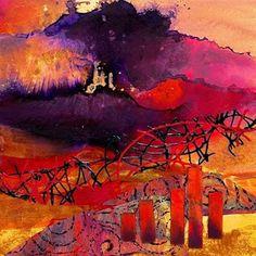 """CAROL NELSON FINE ART BLOG: Abstract Mixed Media Art Painting """"Fantasia 14015"""" by Colorado Mixed Media Abstract Artist Carol Nelson"""