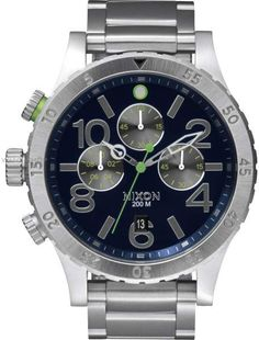 4da5a489a Nixon Chrono 48-20 A486 1981-00 Stainless Steel 48mm Watch Pre Owned Watches