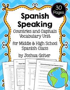 Spanish-speaking countries worksheets and activities | Spanish ...