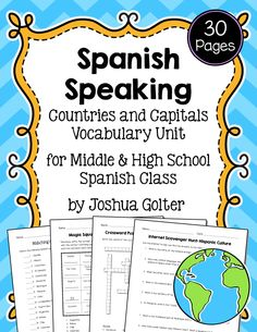 Spanish Speaking Countries WORD SEARCH | Los Paises ...
