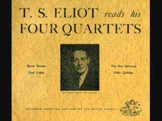T S Eliot reads his Four Quartets - YouTube